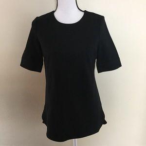 Ann Taylor  Black Short Sleeve Tunic Blouse Sz XS